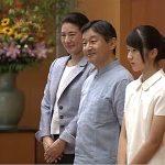 皇太子、小判鮫雅子様と愛子様 豆記者と面会