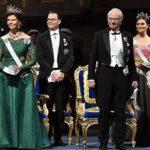 2018年ノーベル賞授賞式、晩餐会 スウェーデン王室ヴィクトリア皇太子のドレスは王妃のドレス