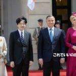 秋篠宮ご夫妻ポーランド到着 皇室外交ではなく国際親善です*G20サミット夕食会 昭恵夫人の着物が素敵でした迎賓館での文化行事などの動画追加