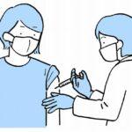 集団接種会場でようやく1回目のワクチン接種を終えました。